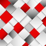Abstract white and red square background Stock Photos