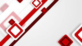 Abstract white and red tech squares video animation stock video footage