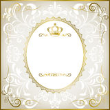 Abstract white romantic frame