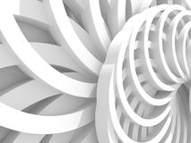 Abstract White Round Circles Pattern Background. 3d Render Illustration Royalty Free Stock Photography