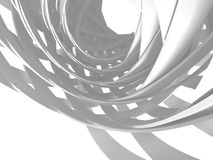 Abstract White Round Circles Pattern Background. 3d Render Illustration Stock Photos