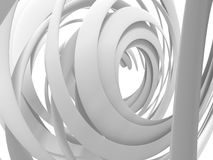 Abstract White Round Circles Pattern Background. 3d Render Illustration stock illustration