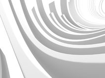 Abstract White Round Circles Pattern Background. 3d Render Illustration Stock Images