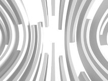 Abstract White Round Circles Pattern Background. 3d Render Illustration Royalty Free Stock Photos