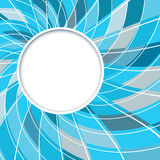 Abstract white round shape with digital blue and grey pattern Royalty Free Stock Images