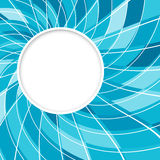 Abstract white round shape with digital blue pattern. Vector background. Stock Photos