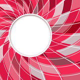 Abstract white round shape with digital red and grey pattern. Stock Photo