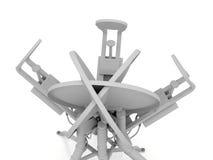 Abstract white satellite antenna Royalty Free Stock Image