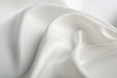 Abstract white silk background Royalty Free Stock Photos
