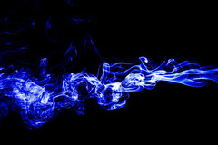 Abstract white smoke on black background, smoke background, blue. Smoke background, blue ink. Beautiful background Royalty Free Stock Images