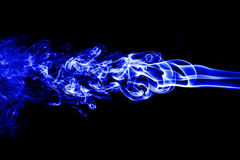 Abstract white smoke on black background, smoke background, blue royalty free stock image