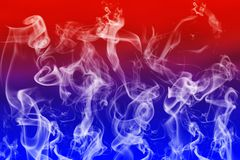 Abstract White Smoke in Blue and Red Background royalty free illustration