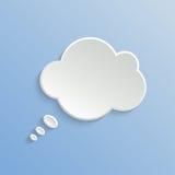 Abstract White Speech Bubble Stock Photo