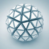 Abstract White Sphere Shape Icon. 3d Render Illustration Royalty Free Stock Photo