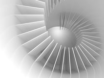 Abstract white spiral structure perspective Stock Photography