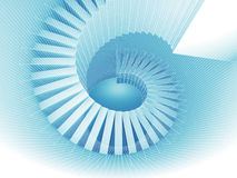 Abstract white spiral structure perspective Royalty Free Stock Images