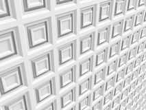 Abstract White Square Shape Wall Tile Texture Background Royalty Free Stock Photos