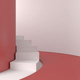 Abstract white staircase. 3d illustration Vector Illustration