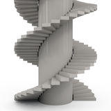 Abstract White Staircase. 3d illustration Stock Illustration