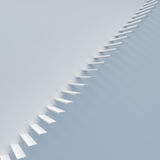 Abstract white staircase. Against white wall 3D render Stock Illustration
