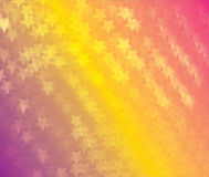 Abstract white stars on orange colorful background Stock Image