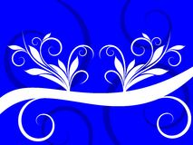 Abstract White Swirl on Blue Background Royalty Free Stock Images