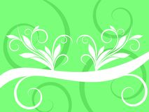 Abstract White Swirl on Green Background Royalty Free Stock Photo