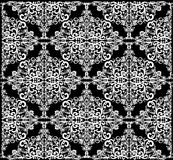 Abstract white symmetrical square pattern Royalty Free Stock Photo