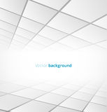 Abstract white tiled background with a perspective. Vector illustration Royalty Free Stock Photo