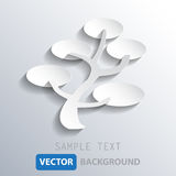 Abstract white tree background, vector eps10 Royalty Free Stock Photography