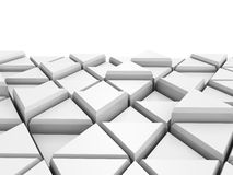 Abstract White Triangle Blocks Background. 3d Render Illustration royalty free illustration