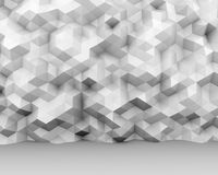 Abstract white triangle polygon wall. Interior background. 3D rendering Vector Illustration
