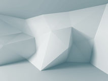 Abstract white triangle wall background. 3d render illustration Stock Photography