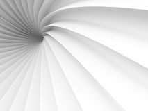 Abstract White Tunnel Design Background. 3d Render Illustration Stock Photos