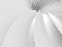 Abstract White Tunnel Design Background. 3d Render Illustration Stock Photography