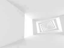 Abstract white twisted spiral corridor 3 d. Abstract white twisted spiral corridor interior, 3d illustration Stock Photos