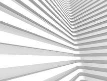 Abstract White Wall Architecture Background. 3d Render Illustration stock illustration