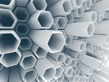 Abstract White Wall Chaotic Background Royalty Free Stock Photography