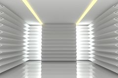 Abstract white wall in empty room Royalty Free Stock Photography