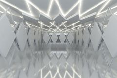 Abstract white wall in empty room Royalty Free Stock Photo