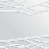 Abstract White Wavy Background Stock Image