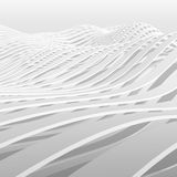 Abstract white wavy stripes pattern background 3d Royalty Free Stock Photo