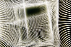 Abstract white web. A background of an illustrated abstract white web with a rectangle Stock Photos