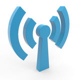 Abstract Wi-fi antenna. Royalty Free Stock Image
