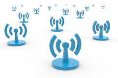 Abstract Wi-fi antennas. Stock Photography