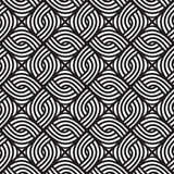 Abstract wicker black and white pattern. Seamless vector pattern. Wrapping paper design stock illustration
