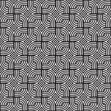 Abstract wicker pattern. Black and white vetor seamless pattern. Stock Image