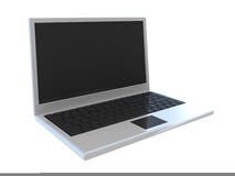 Abstract widescreen laptop. Isolated on white Royalty Free Stock Photos
