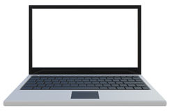 Abstract widescreen laptop. Isolated on white Stock Photography