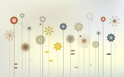 Abstract wild flowers - Desktop wallpaper Royalty Free Stock Photo